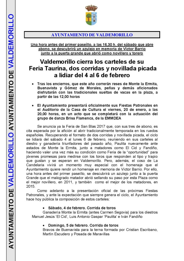 Not press feria taurina San Blas 2017-page-001
