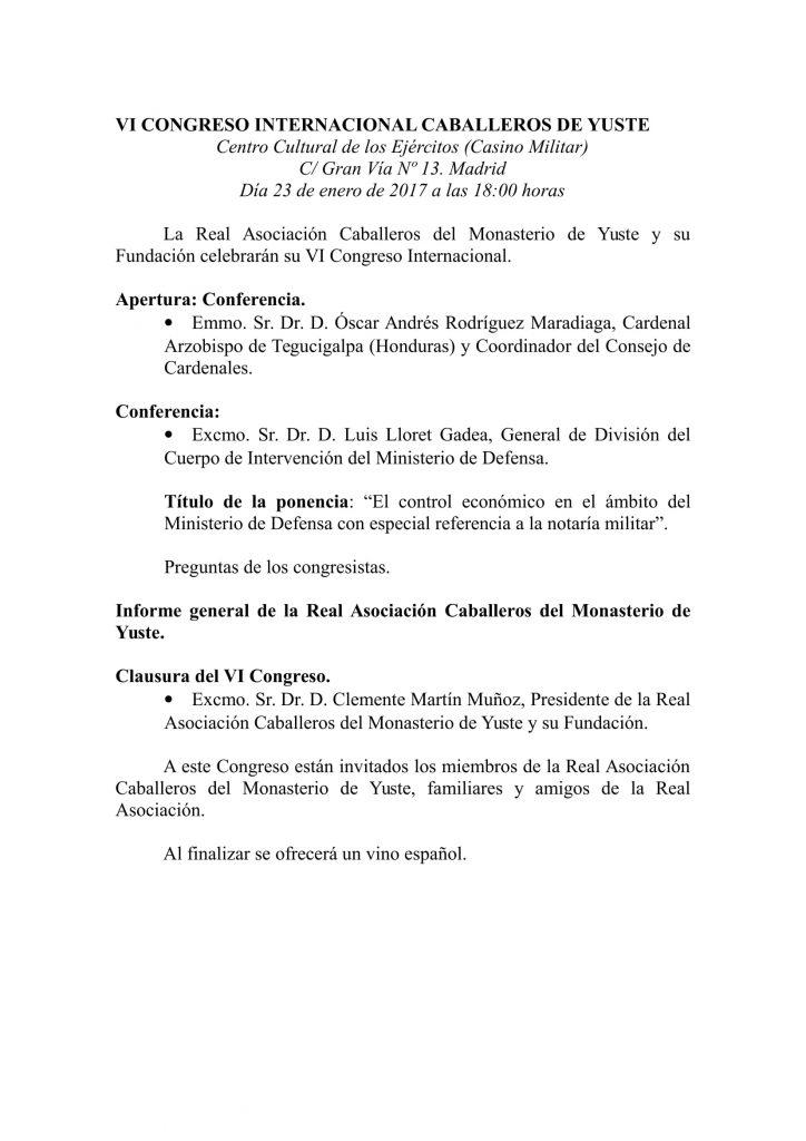 VI CONGRESO INTERNACIONAL CABALLEROS DE YUSTE-1