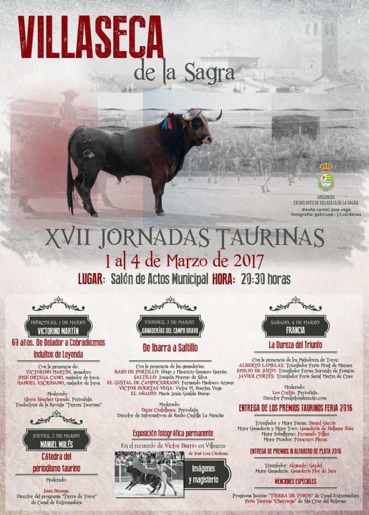 Cartel XVII Jornadas Taurinas de Villaseca de la Sagra