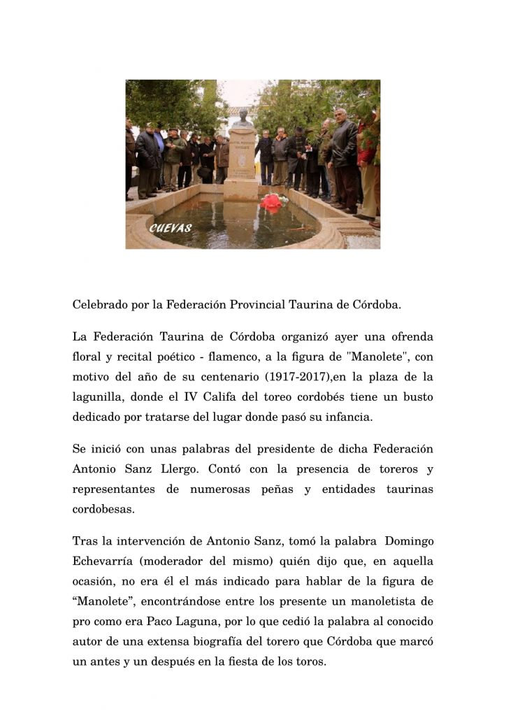 Celebrado por la Federación Provincial Taurina de Córdoba-1