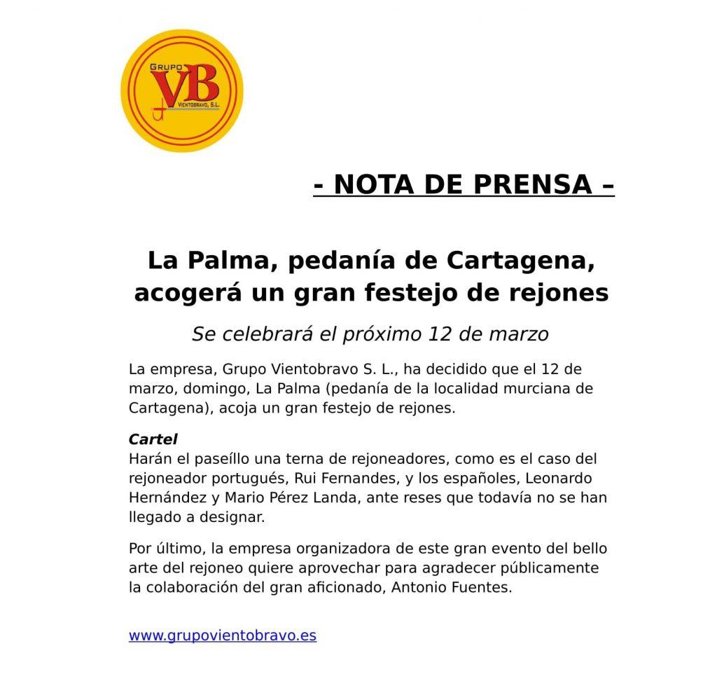 La Palma 2017 - Festejo de rejones-1