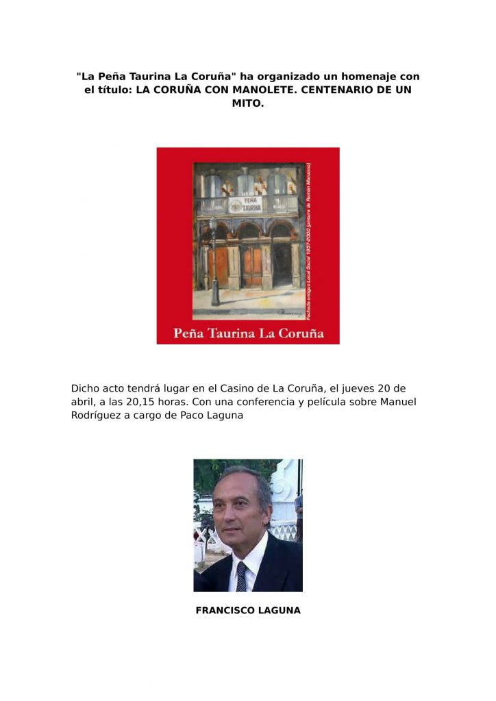 La Peña Taurina La Coruña-1