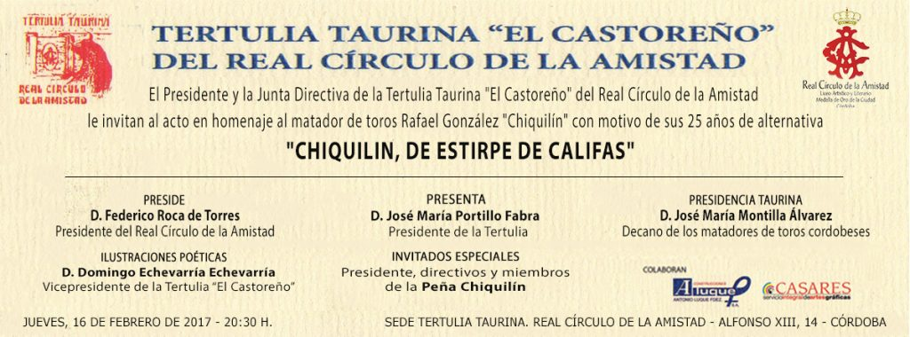 invitaciones castoreño CHIQUILIN